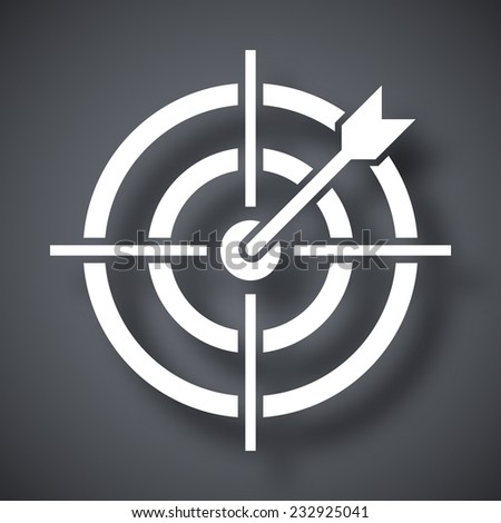 Vector target with dart icon - stock vector