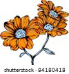 Vector Tattoo Sunflower - stock vector