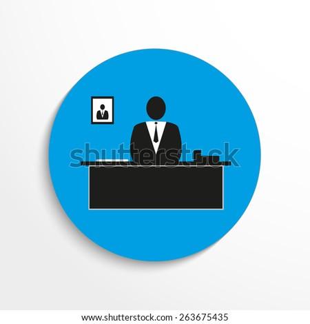 Vector teacher icon illustration background. - stock vector