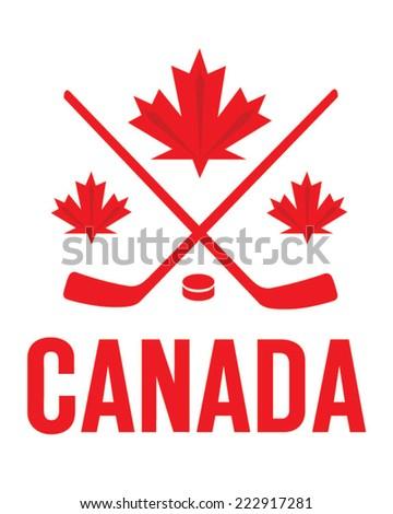 Vector Team Canada Hockey Emblem  - stock vector