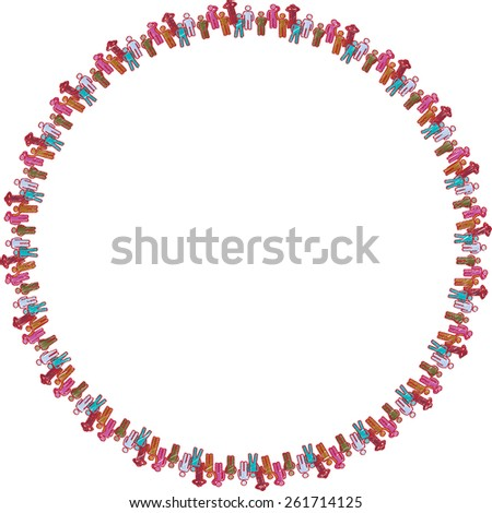 Vector teamwork concept of community,workers,unity,social networking icon  - stock vector