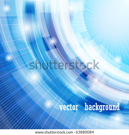 Vector techno abstract blue background - stock vector