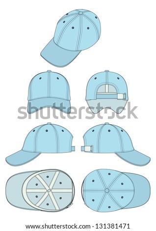 vector template baseball corporate cap - stock vector