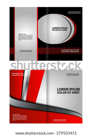 Vector template brochure