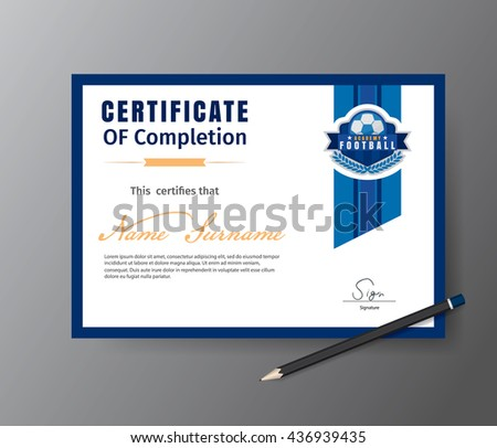Football Certificate Stock Images RoyaltyFree Images  Vectors