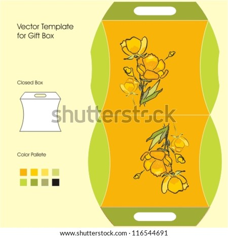 Vector Template for Gift Box - stock vector
