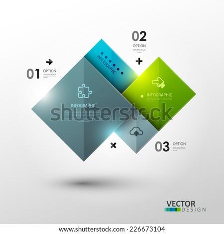 vector template presentation abstract composition bright stock, Presentation templates