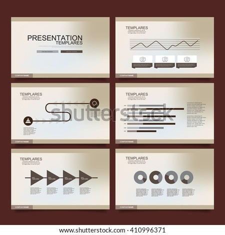 Vector Template for Presentation Gold version
