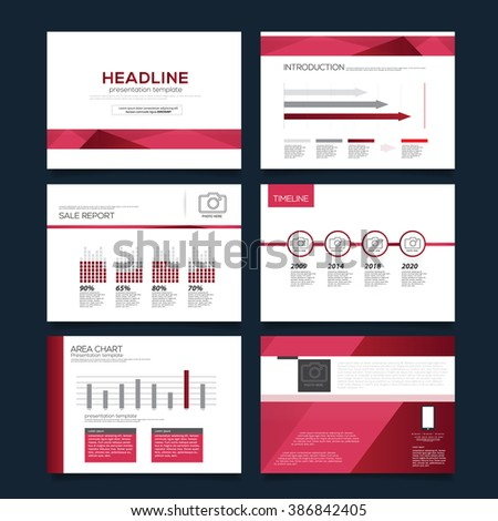 Vector Template for Presentation Red version - stock vector