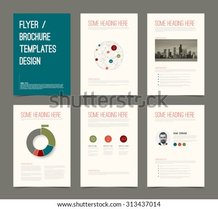 Vector Template Presentation Slides Graphs Charts Stock Vector