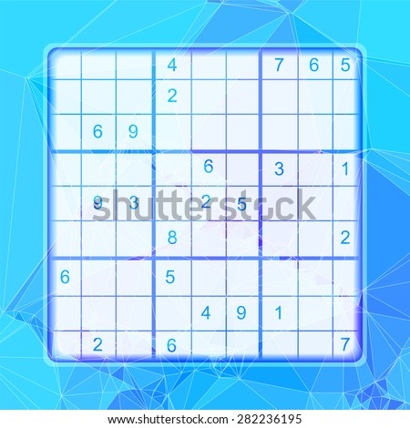 Vector template for the sudoku puzzle - stock vector