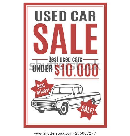 Used Car Sales Photos RoyaltyFree Images and Vectors – Template for Sale of Car