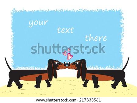 Vector template joy dogs - stock vector