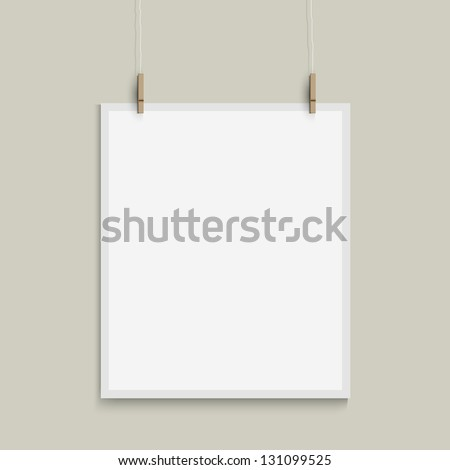 Vector template of paper sheet - stock vector