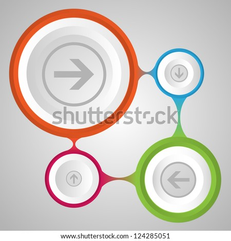 Vector template set - stock vector