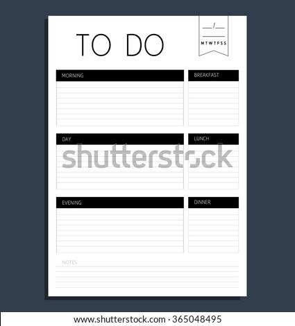 Vector Color Template Do List Blank Vector 365048486 – Stock List Format