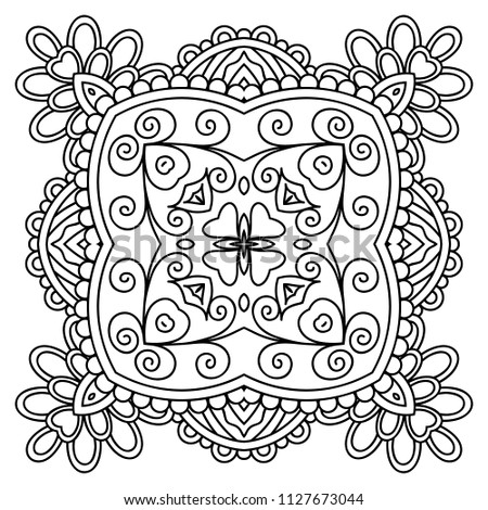 Vector Template Zentangle Mandala For Decorating Greeting Cards Coloring Books Art Therapy Anti