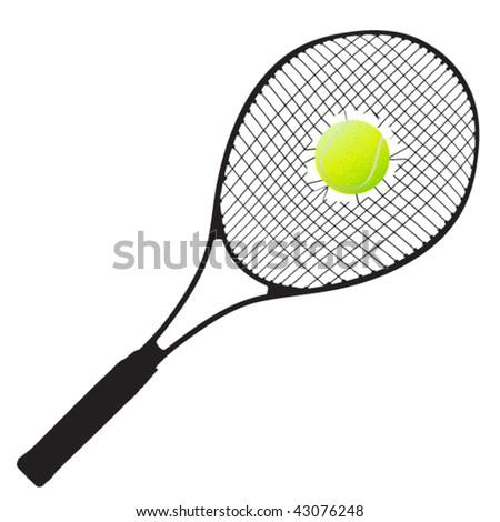 vector tennis racket - stock vector