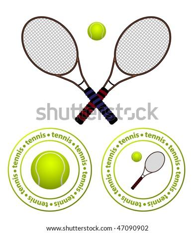 vector tennis set - stock vector