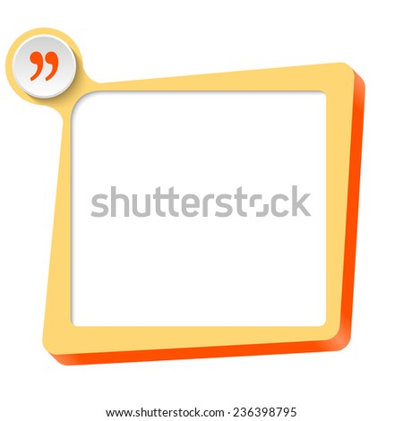 vector text box for any text and quotation mark - stock vector