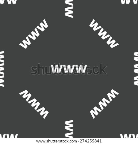 Vector text WWW repeated on grey background - stock vector