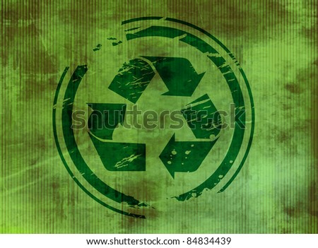 vector texture background of recycle symbol. - stock vector