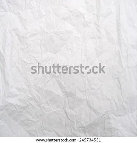 Vector texture of crumpled paper - stock vector