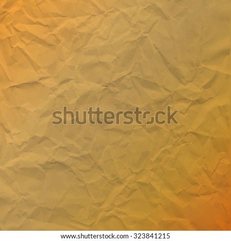 Vector texture of crumpled paper. Background brown paper. Textured wallpaper. Use for label, card, banner, retro style etc. Eps 10 vector file. - stock vector