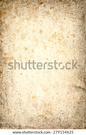 vector texture of the old paper background with foxing - stock vector