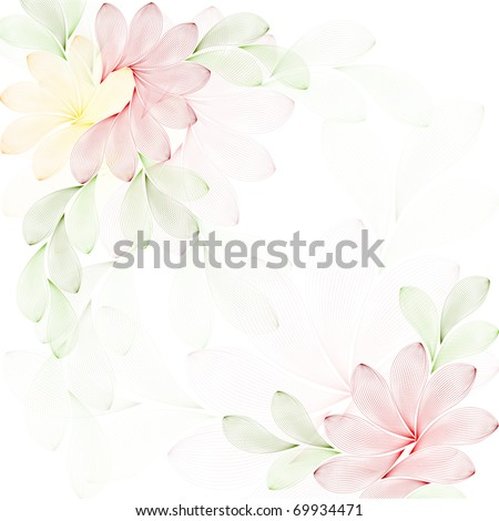vector texture with flowers