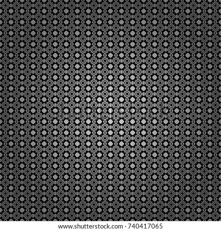 Vector textured background. Abstract seamless pattern of a plurality stylized elements in white, gray and black colors.