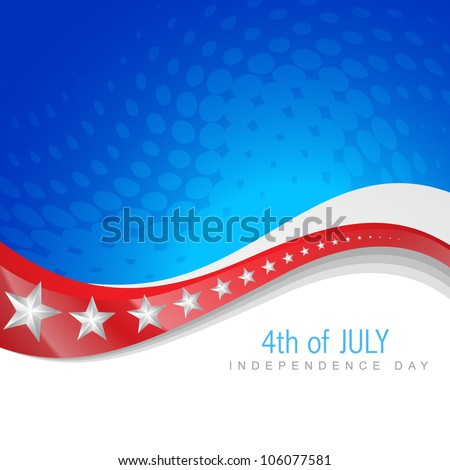 vector 4th of july independence day design art - stock vector