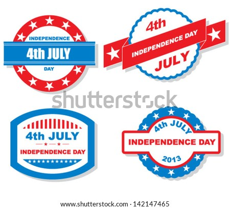 Vector 4th of july labels - stock vector