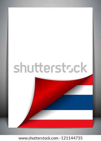 Vector - Thailand Country Flag Turning Page