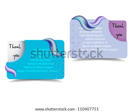 Vector thank you card with place for your text - stock vector