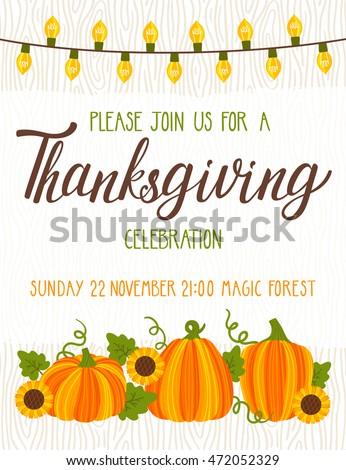 Beskova ekaterina 39 s portfolio on shutterstock for Thanksgiving invitation templates free word