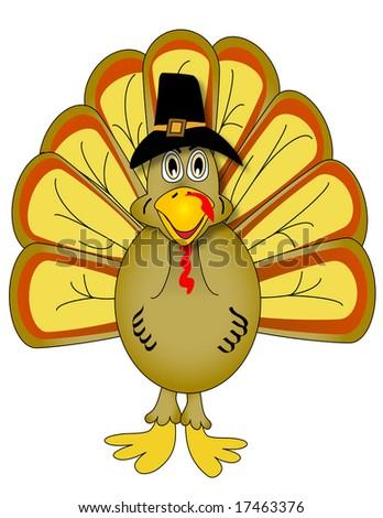 Vector Thanksgiving Turkey - stock vector
