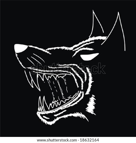 Vector. The Grin of  Werewolf - stock vector