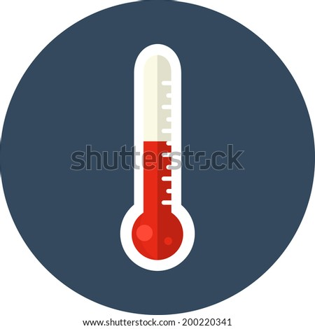 Vector Thermometer  Flat Icon - stock vector