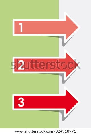 Vector three faq labels with arrows