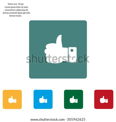 Vector thumb up icon