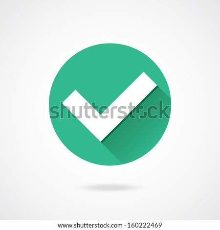 Vector Tick Icon - stock vector