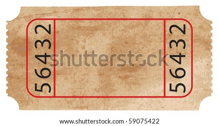 Vector Ticket - stock vector