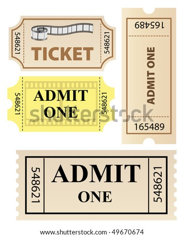 vector tickets set - stock vector