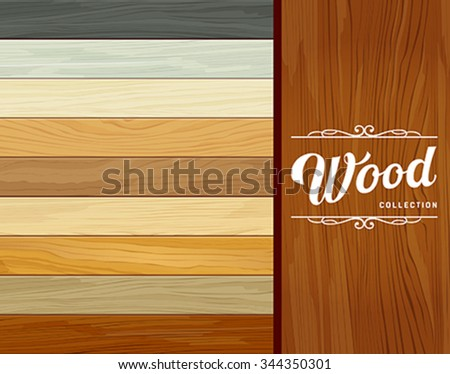 Vector Tile wood floor striped design background, illustration - stock vector
