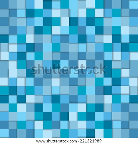 vector tiles seamless pattern in blue colors - stock vector