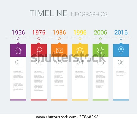 Vector timeline infographic - stock vector