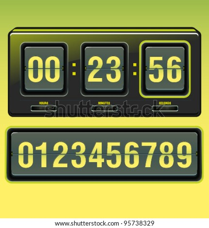 Vector timer clock - stock vector