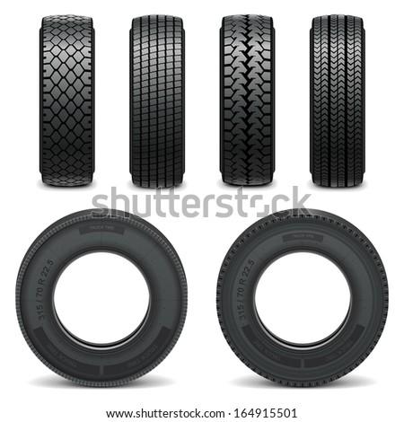 Vector tire icons - stock vector