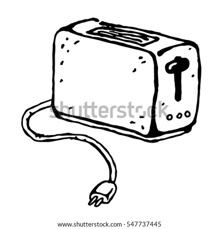 toaster clipart black and white. vector toaster, kitchen equipment icon, home constructor element, design household appliances. hand toaster clipart black and white